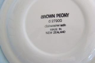 Crown Lynn - Brown Peony Brown_12