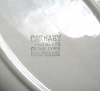 Carnaby Tableware Crown Lynn Carnab11
