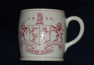 The 1950 Empire Games Mug plus Canterbury Centennial mug Empire10