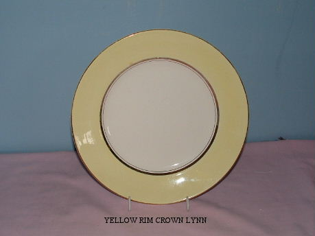 plate - Milano and Wessex - a yellow rim plate from hon-john  Yellow10