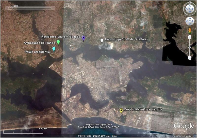 La situation en Côte d'Ivoire et à Abidjan vu par google earth Abidja11
