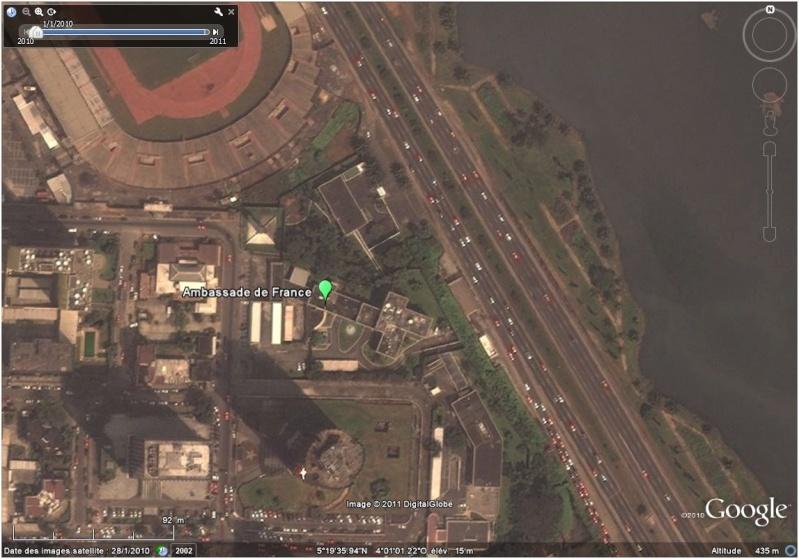 La situation en Côte d'Ivoire et à Abidjan vu par google earth Ambass20
