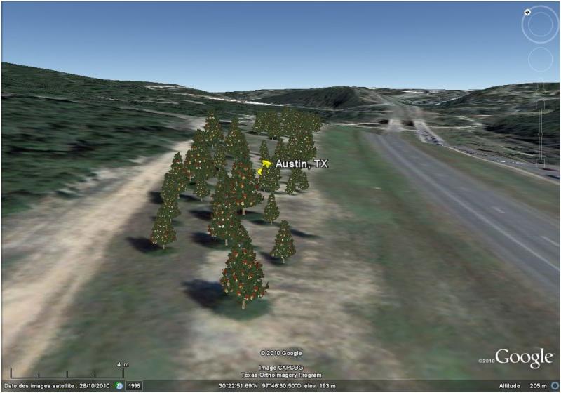 Les sapins de Noël sous Google Earth [modélisation 3D] Austin10