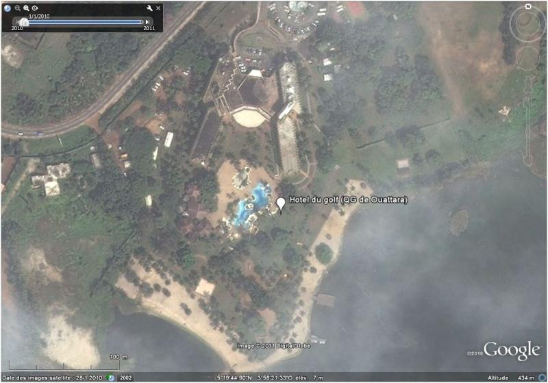 La situation en Côte d'Ivoire et à Abidjan vu par google earth Htella10