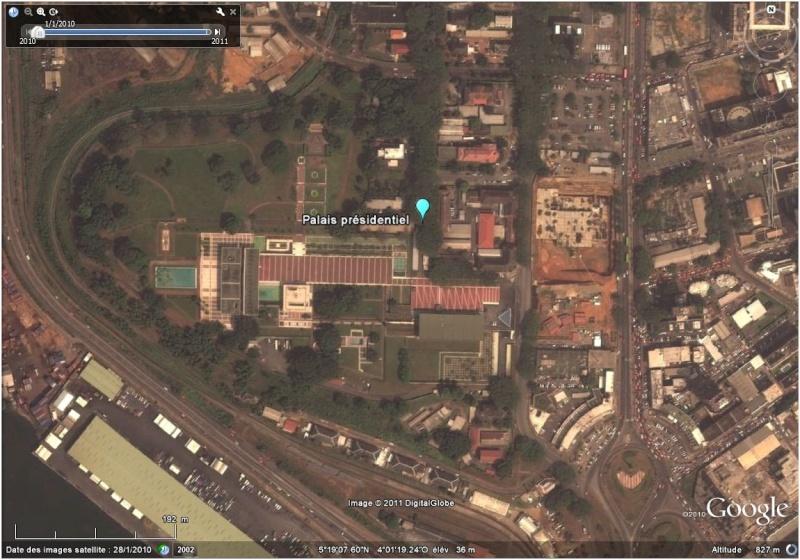 La situation en Côte d'Ivoire et à Abidjan vu par google earth Palais10