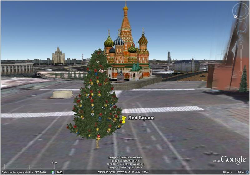 Les sapins de Noël sous Google Earth [modélisation 3D] Place_10