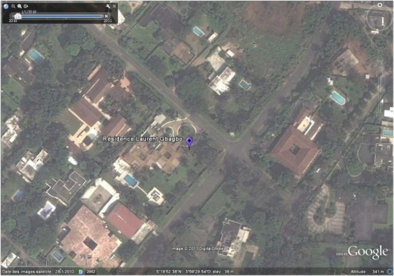 La situation en Côte d'Ivoire et à Abidjan vu par google earth Raside10