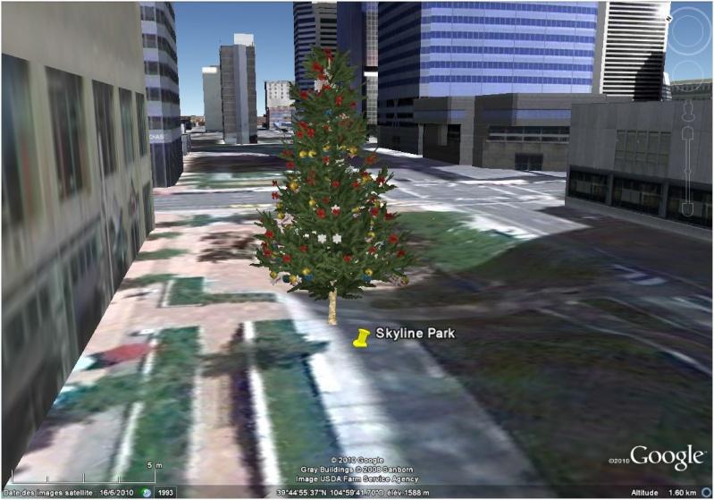 Les sapins de Noël sous Google Earth [modélisation 3D] Skylin10