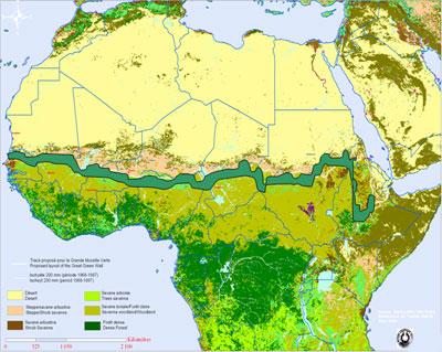 La Grande Muraille Verte (GMV) en Afrique subsaharienne Trace10