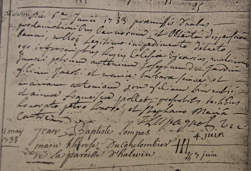 x 1717 et x 1733 en latin 1733-612