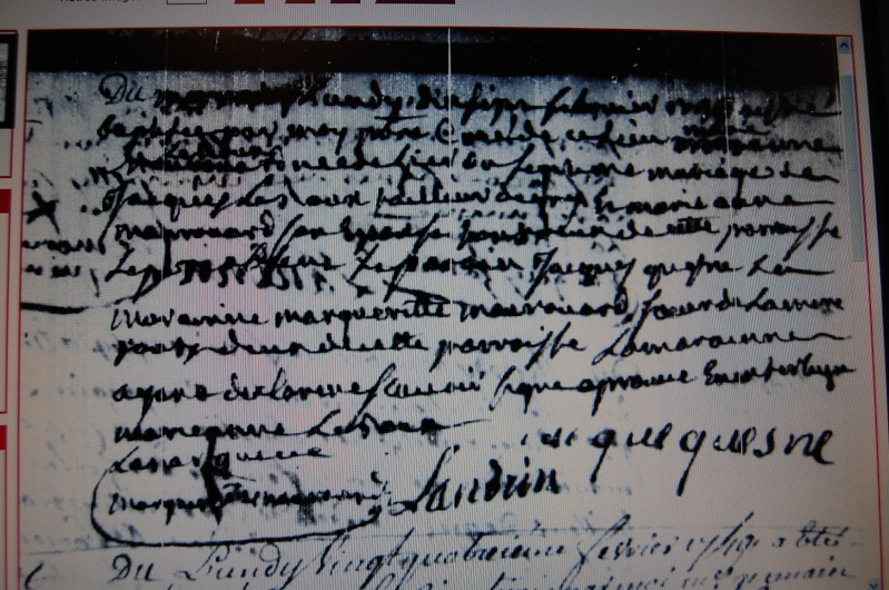 Déchiffrage o sur Varengeville 1749-112