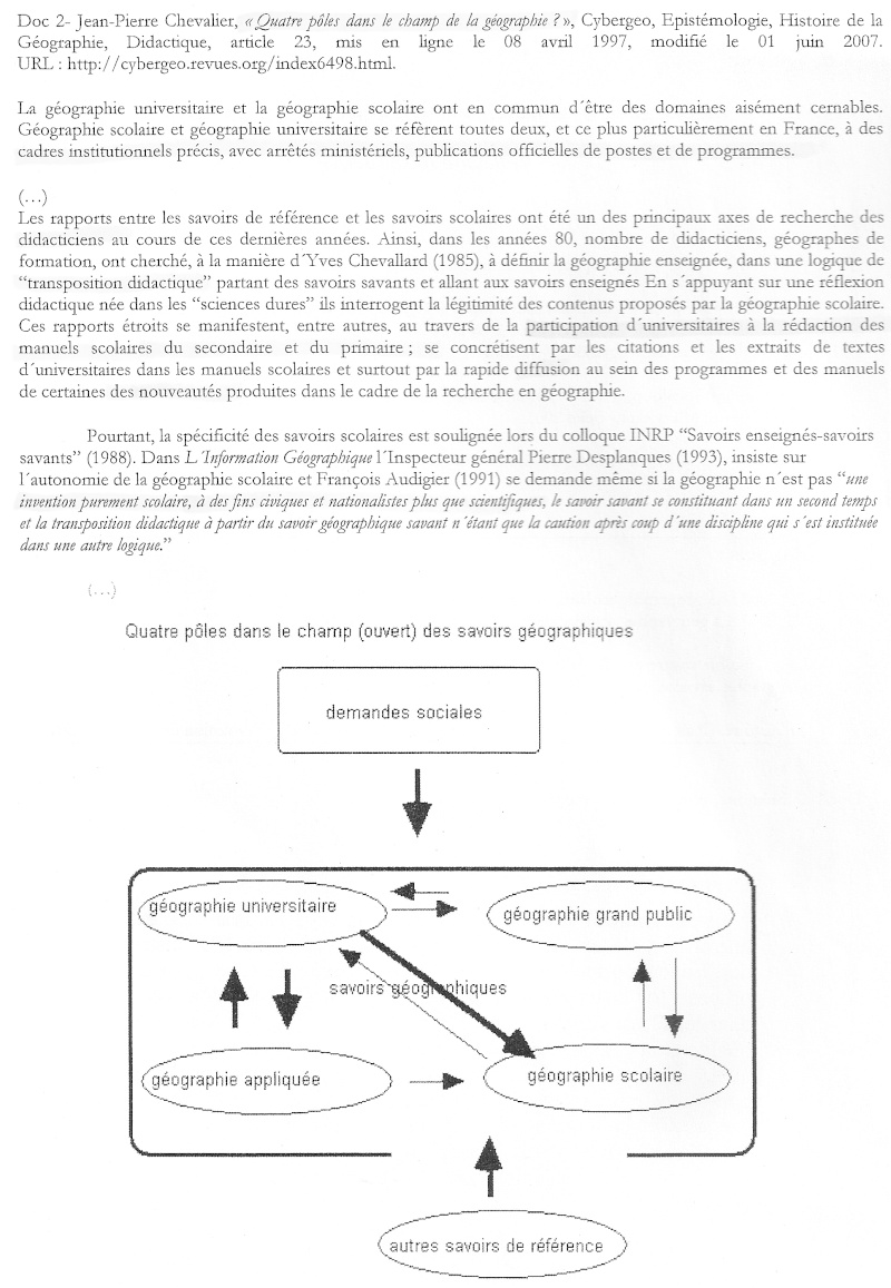 Débat du mois de mai 2010 : La géographie scolaire, simplification de la géographie universitaire ? 211