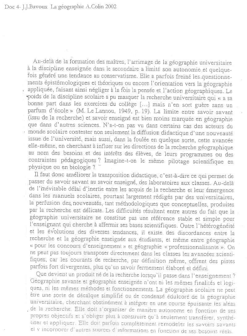 Débat du mois de mai 2010 : La géographie scolaire, simplification de la géographie universitaire ? 411