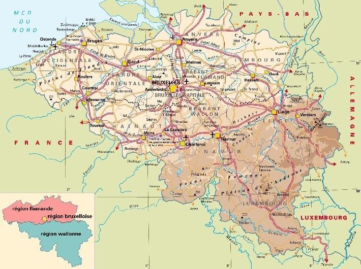 Où trouver une carte avec les différentes altitudes de Belgique ? Body7210