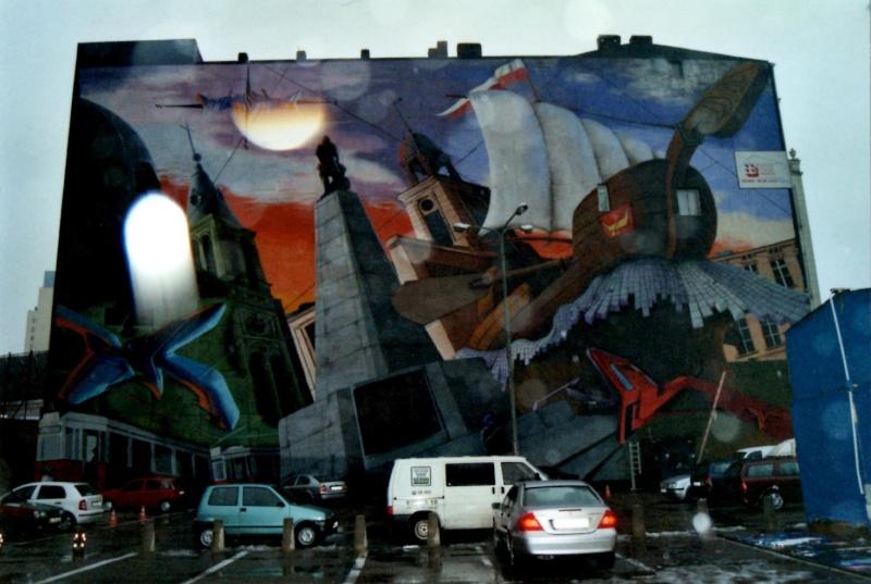 Photographie : graffiti à Lodz Img00112