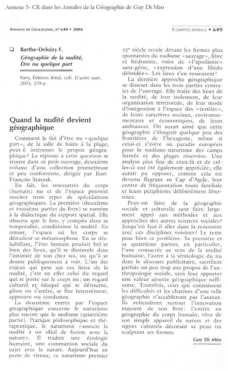 Débat du mois de juin 2010 : La nudité est-elle un sujet/objet géographique ? Nu510