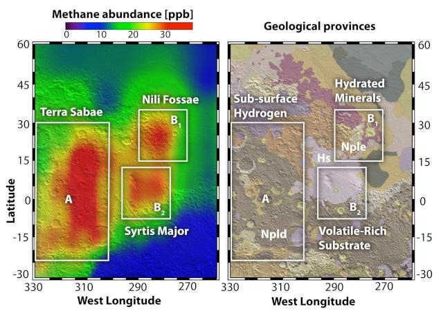 Observation du méthane martien Mathan10