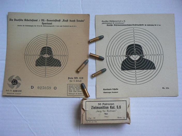 cibles et boite de 5,6 allemandes P1080758