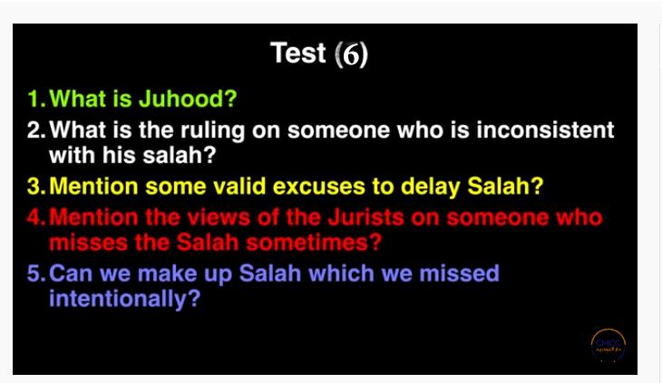 Pray the Prophet`s (Sallallahu Alayhi wa Sallam) Way 6-211