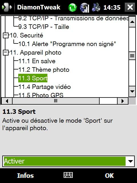 existe t-il un stabilisateur pour prendre des photo claires Screen11