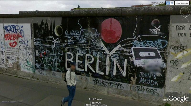 STREET VIEW: East Side Gallery, Berlin, Allemagne 1011