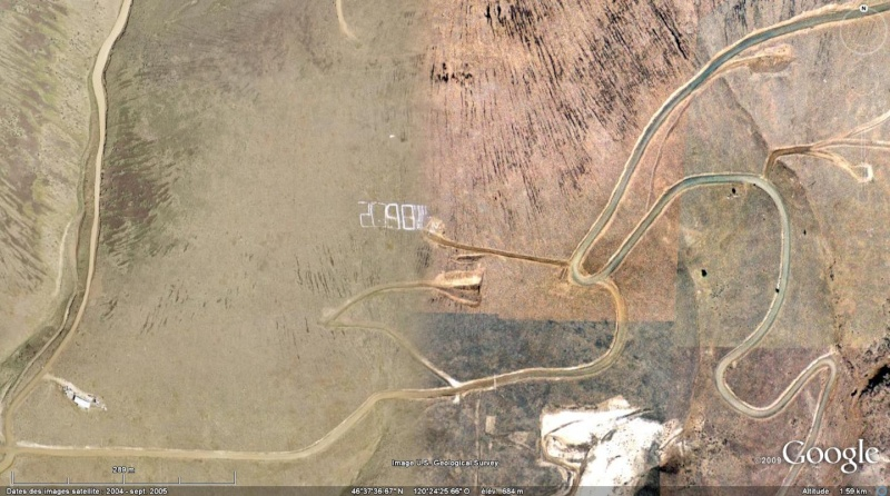 2098! marqué au sol, Etat Washingtion, USA 209811