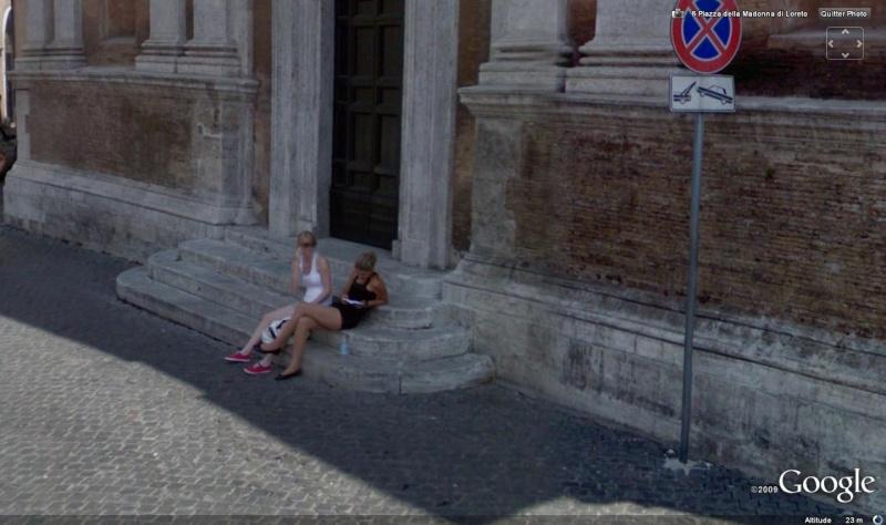 STREET VIEW : jolies italiennes à Rome Jolies10