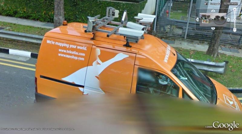 un concurrent à Street view? voiture teleatlas, singapour Rrr11