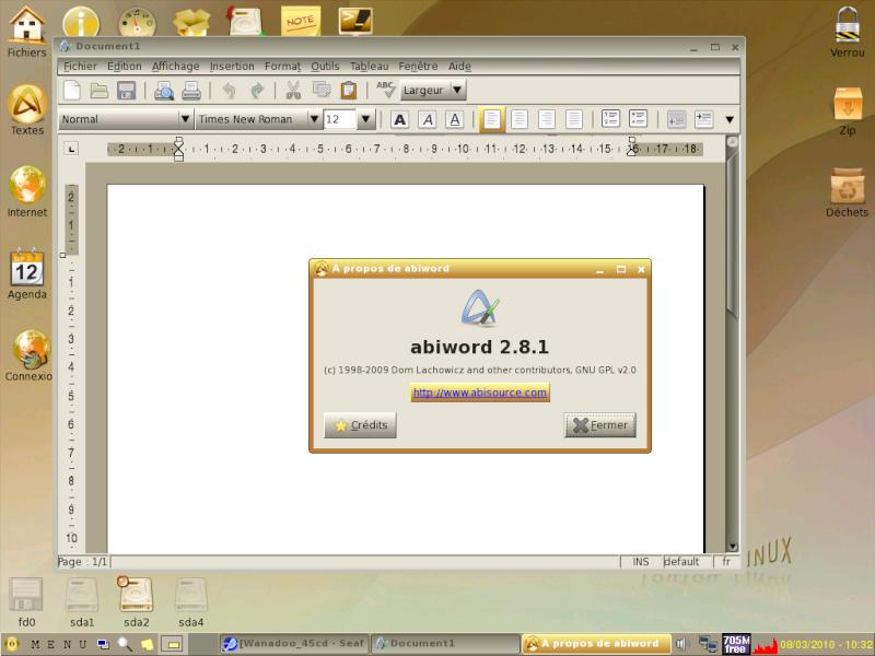 Toutou Linux 4.3.1 Abiwor10