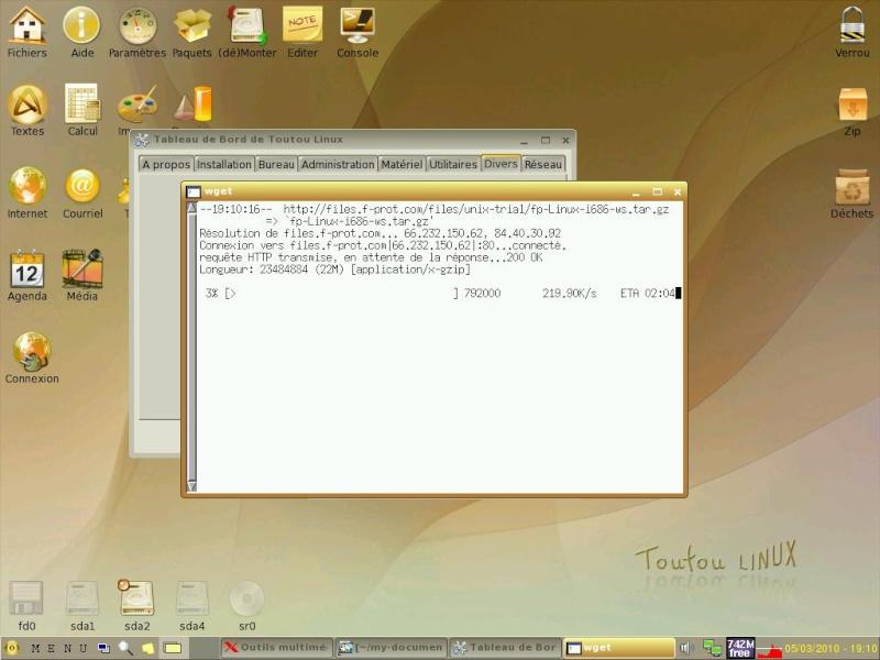 Toutou Linux 4.3.1 Fproti10