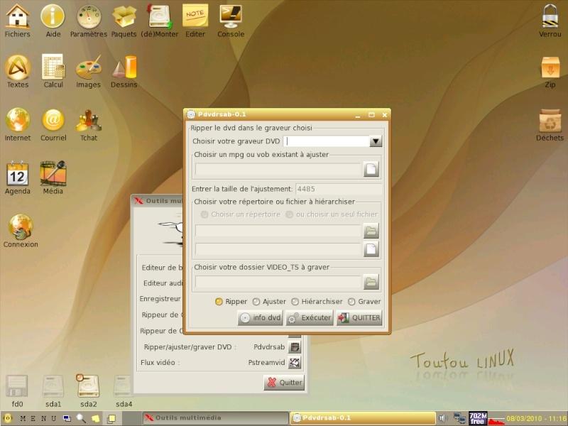 Toutou Linux 4.3.1 Graveu10