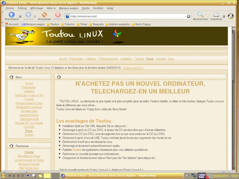 Toutou Linux 4.3.1 Pageto10