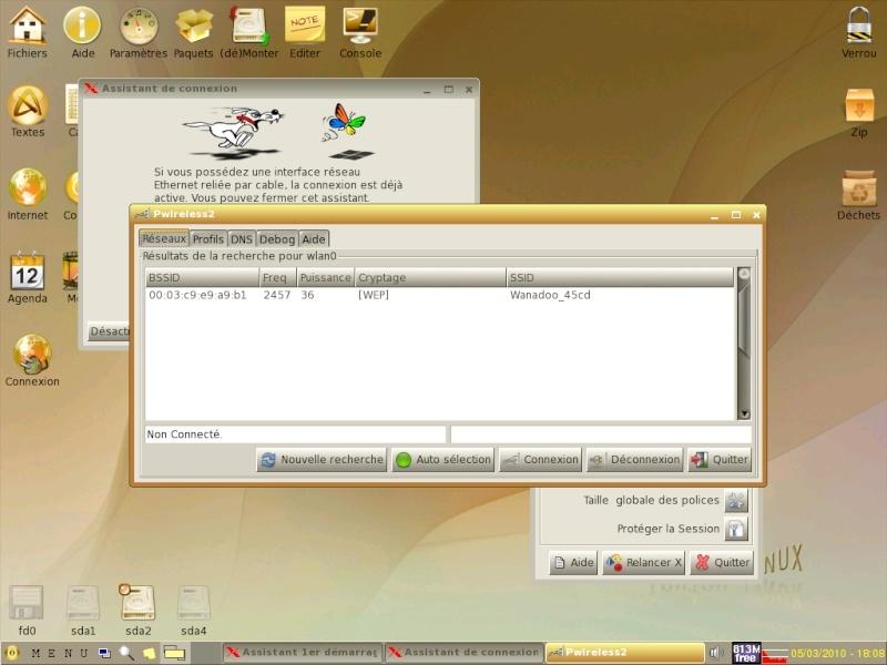 Toutou Linux 4.3.1 Wifi2p10