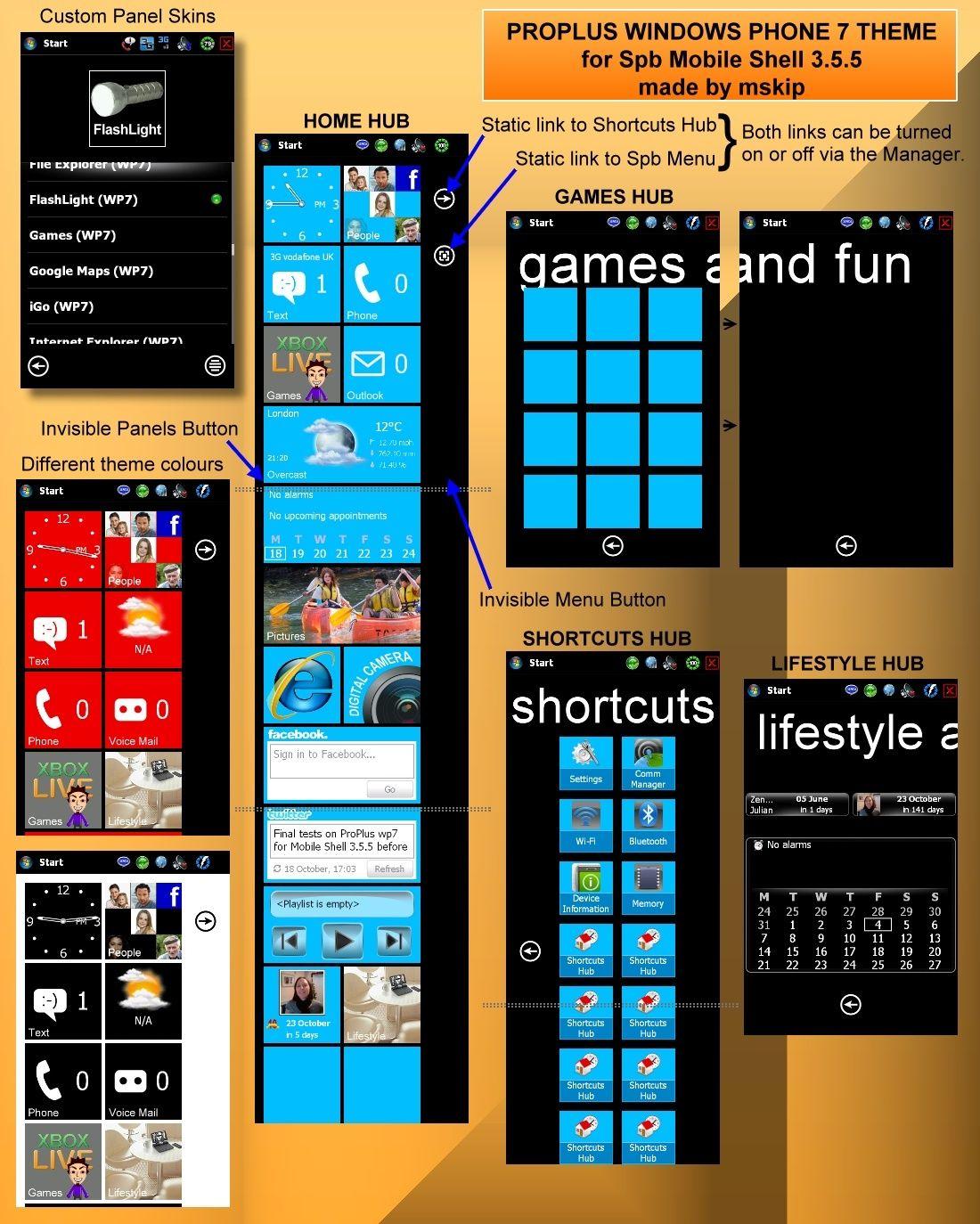(Thème SPB Mobile Shell): Un air de Windows Phone7(Source xda) Proplu13