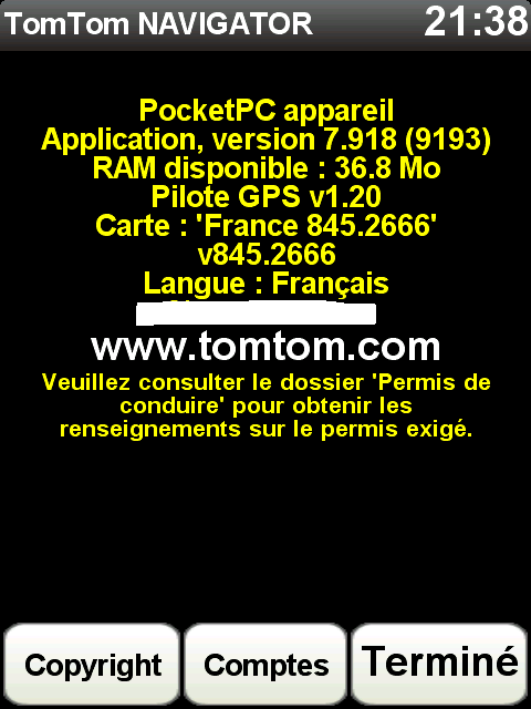 Carte Tomtom 8.45.2666 Scree196