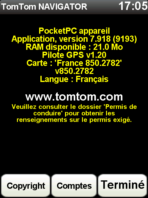 Carte Tomtom 8.45.2666 Scree211