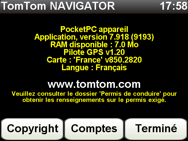 Carte Tomtom 8.45.2666 Scree214