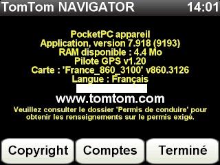 Nouvelles cartes pour TomTom v7.x: France(865.3246&3259) + Europe(865.3262) + Radars France Mai 2011 Screen91