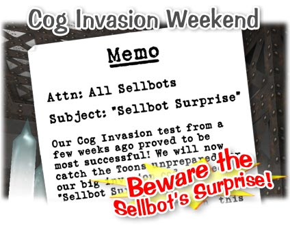 Cog Invasion Weekend! Coginv13