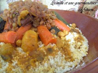 Ksskssou ou Couscous marocain aux légumes et T'faya Cuisin33