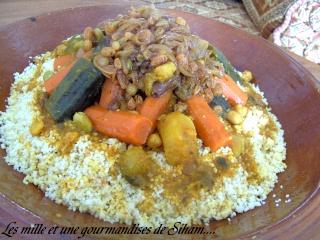 Ksskssou ou Couscous marocain aux légumes et T'faya Cuisin34