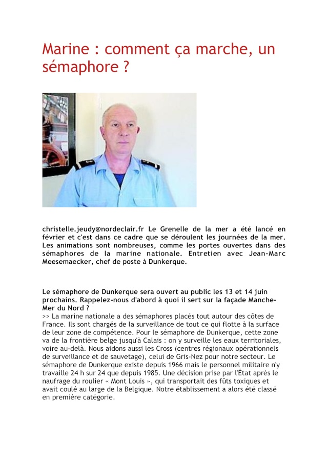 SÉMAPHORE - DUNKERQUE (NORD) Dunker10