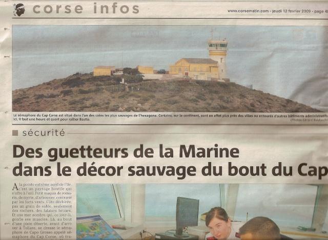 [ Les sémaphores - divers ] Les sémaphores en Corse vus par Corse Matin Semima13