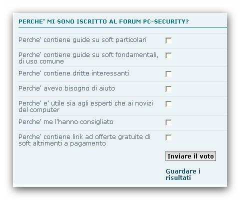 Perche mi sono iscritto al forum PC-Security Sondag10