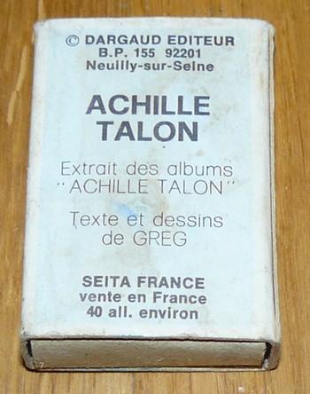 Boites d'alumettes Achille Talon, Dargaud 1982 Boite_12