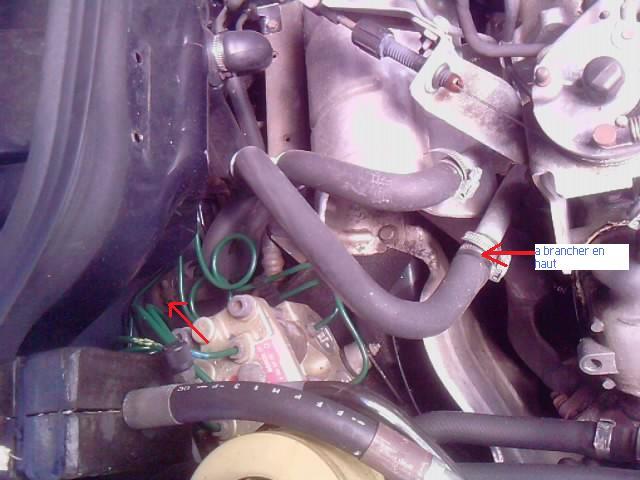 Durite du radiateur d'habitacle sur v6 injection P1805013