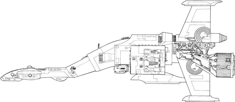 maquette du vaiseau bomberx Xb-sid10