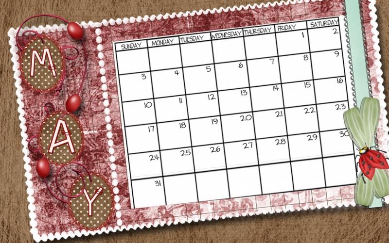 MAY Calendar Challenge May_ca11