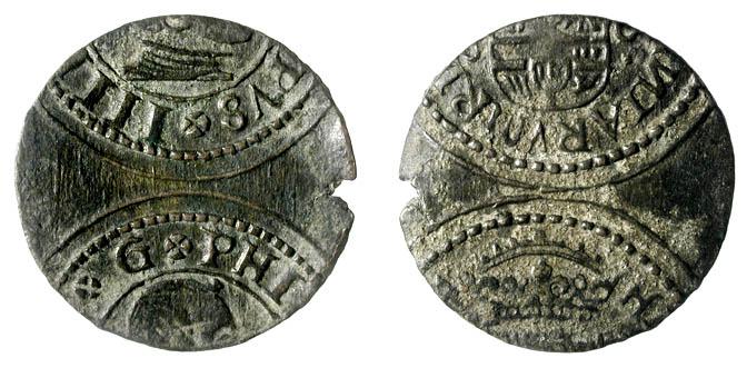 VIII Maravedís del Real Ingenio de Segovia de 1617. Sigla del ensayador. 26103_10