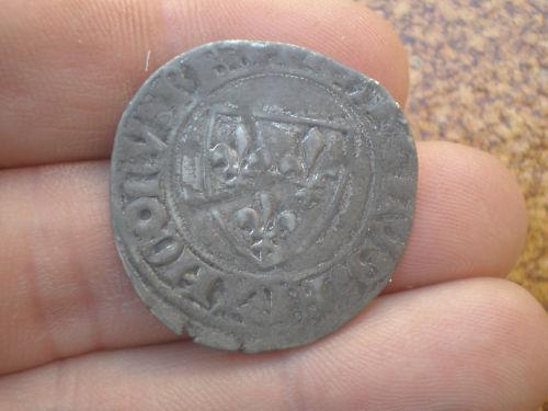 Blanca de Charles VI rey de Francia 1380-1422. Cempjk10